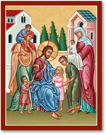 Christ and the Children icon