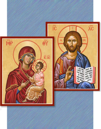 Discounted pair: Christ the Teacher & Virgin and Child
