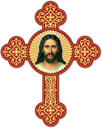 Face of Christ Cross magnet