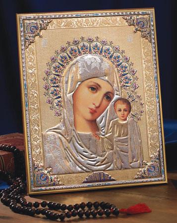 Gold / Silver Madonna Icon