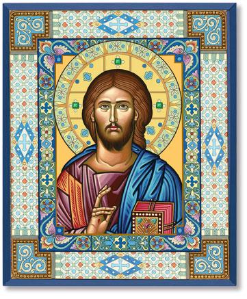 Ornamental Christ Icon
