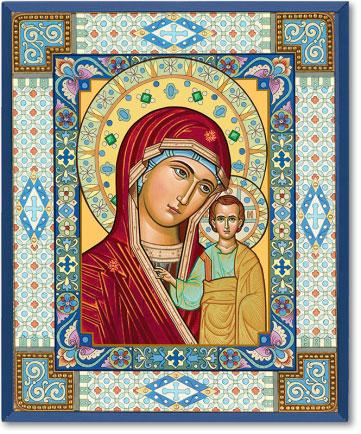 Ornamental Virgin Mary icon