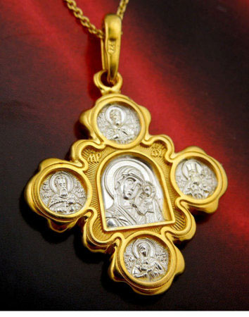 Our Lady of Kazan Gold Cross