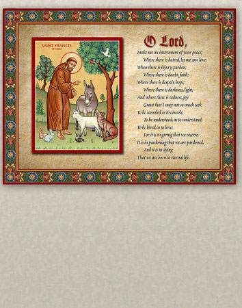 Prayer of Saint Francis Inspirational Plaque