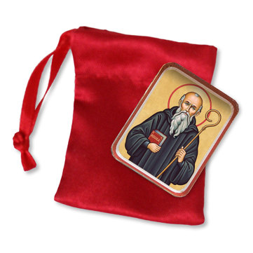 St. Benedict Pocket Icon