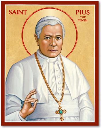 St. Pius X icon