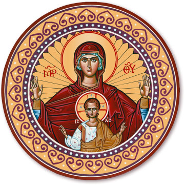 Virgin & Child Round Magnet