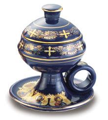 Blue Ceramic Home Incense Burner