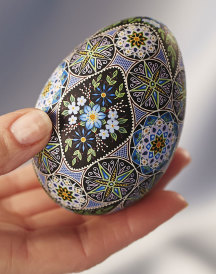 Blue Rainbow Fine Art Easter Egg