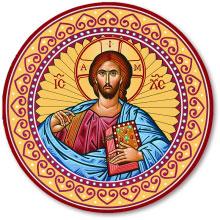 Christ Round Magnet