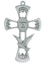 Confirmation Wall Cross - Pewter