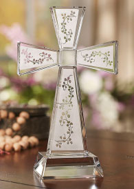 Crystal Shamrock Cross