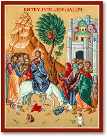 Entry into Jerusalem icon