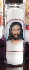 Face of Christ Votive Candle