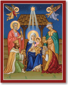 Glory to the Newborn King icon