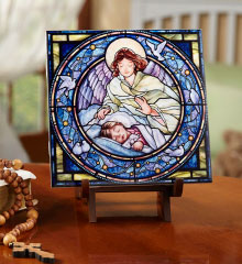 Guardian Angel Ceramic Tile with girl