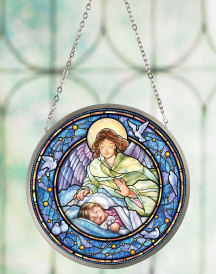 Guardian Angel suncatcher (girl)