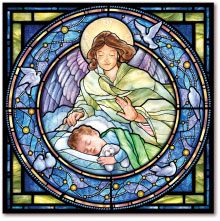 Guardian Angel Tile with boy