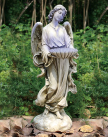 Holy Angel Solar Bird Bath