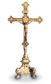 Italian Brass Crucifix