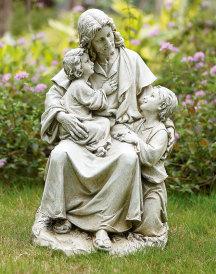 Jesus and the Children Garden Statue