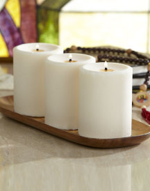 Lily of the Valley pillar candle