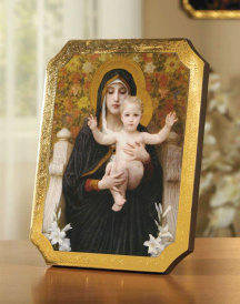 NEW Madonna of the Lilies Florentine Plaque