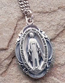 Traditional Miraculous Medal with Chain