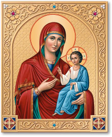 Ornamental Shrine of the Virgin Mary Directress icon