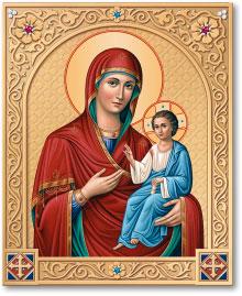 Ornamental Shrine of the Virgin Mary Directress icon