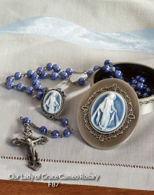 Our Lady of Grace cameo rosary