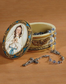 NEW Our Lady of Grace Rosary Box