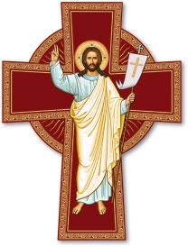 Risen Christ Cross Magnet