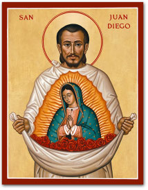 Saint Juan Diego icon