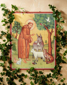 St. Francis & Animals Outdoor Tiles