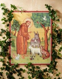 St. Francis & Animals Indoor Tiles