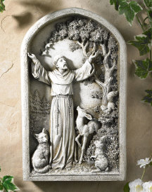 St. Francis Arched Bas Relief