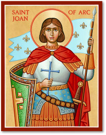 St Joan of Arc icon