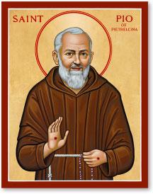 St. Pio icon