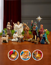 Three Kings Nativity Set - 10-inch basic