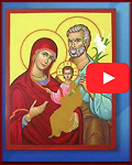 How an Icon is Created, To create this online video we photographed successive stages of the  creation of a recent icon, a portrait of the Holy Family. This  1¾-minute video gives you a time-lapse overview of each stage as a  window into heaven is opened before your eyes.